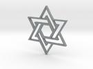 Star of DAVID in Polished Metallic Plastic