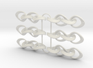 Mobius Strip Earrings 3 x pairs in White Strong & Flexible