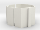 Mew Mew Desk Tidy 40mm in White Strong & Flexible