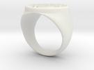 White Lantern Ring (18.53) in White Strong & Flexible