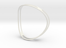 Curved ring in White Strong & Flexible