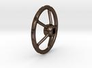 handwheel D20 T5 4kt-2,5 in Polished Bronze Steel