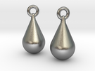 teardrop earrings in Raw Silver