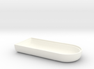 WAX3 Case Upper Half in White Strong & Flexible Polished