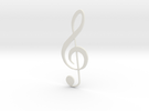 Treble Clef in White Strong & Flexible