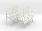 Gn15 coach seat single (2off) in White Strong & Flexible