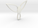 Winged pendant in White Strong & Flexible