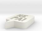 HEPA logo - 3x0,6 in - 7,6cm in White Strong & Flexible