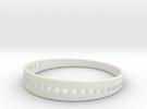 BraceletX 70mm in White Strong & Flexible