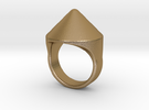 Awesome Teaser Ring in Polished Gold Steel