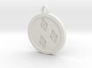 Rarity cutie mark pendant my little pony in White Strong & Flexible