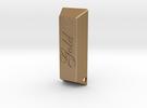 Golden Ingot Pendant in Matte Gold Steel