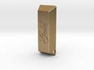 Golden Ingot Pendant in Polished Gold Steel