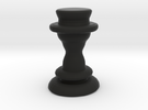 Chess Piece - Queen in Black Strong & Flexible