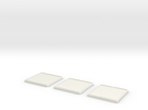 Square Model Base 40mm X3 in White Strong & Flexible