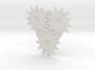 AUC04 Gear Set design 2 in White Strong & Flexible