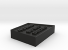 Alignment Block 40mm wide base in Black Strong & Flexible