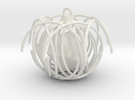 Hex Pendant in White Strong & Flexible