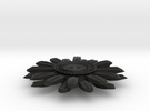 Sunflower Pendant - Bigger Loop in Black Strong & Flexible