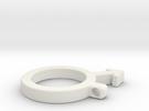 Men symbol pendant in White Strong & Flexible