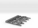 Alto Clef Pendant (1 3/8 Inch) in Raw Silver