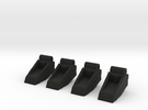 Classics seeker footplates- two sets in Black Strong & Flexible