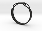 Heart Ring without Text in Black Strong & Flexible