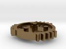 TSG - triple sector gear 2/3 scale keychain/neckla in Raw Bronze
