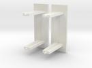 Kleine abri met glaswand schaal N in White Strong & Flexible