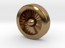 Aviation Button - Turbine Engine in Raw Brass