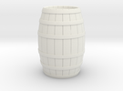 Wood Barrel in White Strong & Flexible