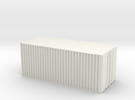 28mm simple cargo container hollow in White Strong & Flexible