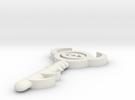 Legend of Zelda boss key in White Strong & Flexible