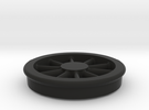 Lobehjul Tenderhjul H2 spor0 STL in Black Strong & Flexible