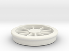 Lobehjul Tenderhjul H2 spor0 STL in White Strong & Flexible