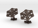 Snowflakes2Cufflinks in Stainless Steel
