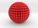 Crazy Disco Ball in Red Strong & Flexible Polished