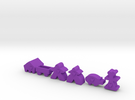 Carcassonne accessory pieces in Purple Strong & Flexible Polished