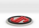 JM Badge Colored 44mm in Full Color Sandstone