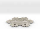 Koch Snowflake - 3 in White Acrylic