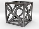 "Cube ""Twirl"" 1""x1""x1"" in Polished Nickel Steel"