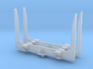 1/64th S Scale log bunk set of 2 with angled top in Frosted Ultra Detail