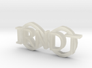 """IRNDT Logo Key Fob 3/4"""" height in Transparent Acrylic"""
