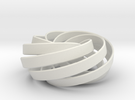 torus knot fantasy 7-6 3D in White Strong & Flexible