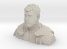 Demo H, Bust, 1/18th Scale (Small GI Joe) in Sandstone