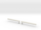 Optimus Leader Class Smoke Stacks (version B) in White Strong & Flexible
