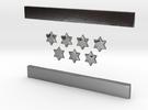 Zim Line Funnel Logo in Polished Silver