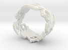 Blossom ring in plastic in White Strong & Flexible
