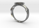 Christian Navigator Ring 2 in Raw Silver