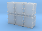 """1/64 """"S"""" Scale 275 Gal. U-N-W Pallet Set Of 6 in Frosted Ultra Detail"""